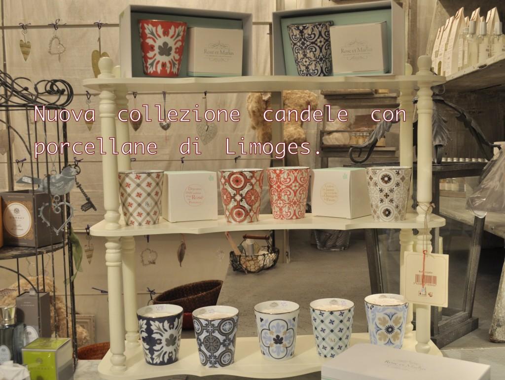 Nuova collezione: candele con porcellane di Limoges