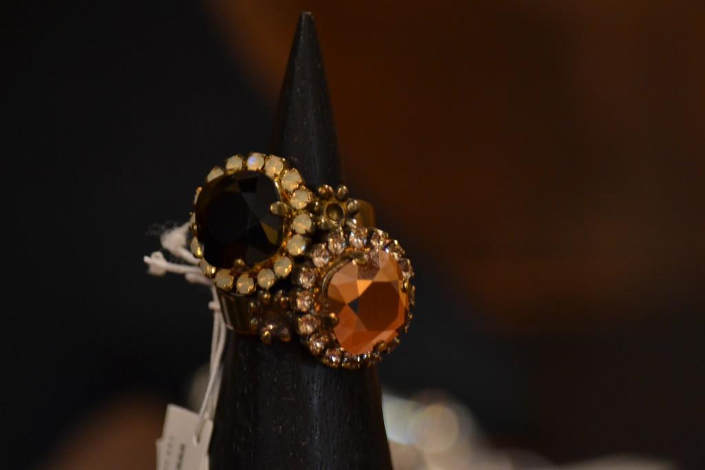 Anelli in bronzo argentato con cristalli Swarovski