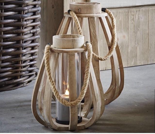 Lanterne in legno les voyageurs for Lanterne in legno