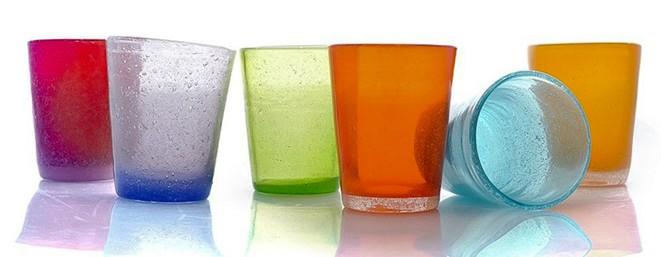 bicchieri vetro colorati