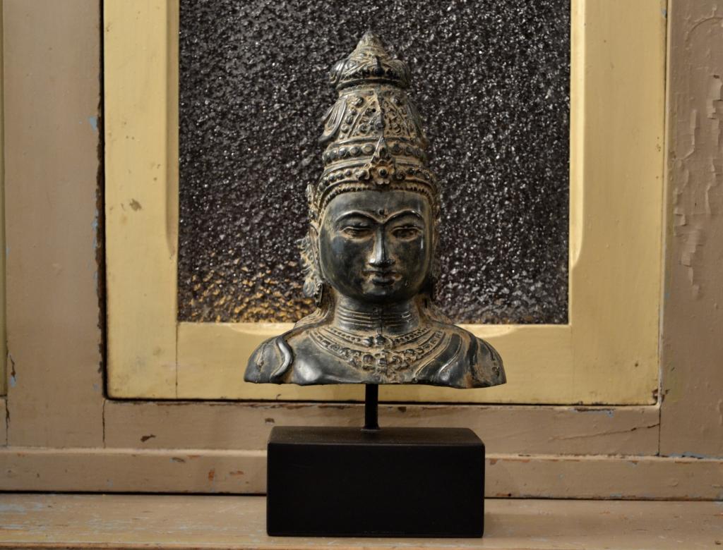 Testa di Bouddha in bronzo – Nepal