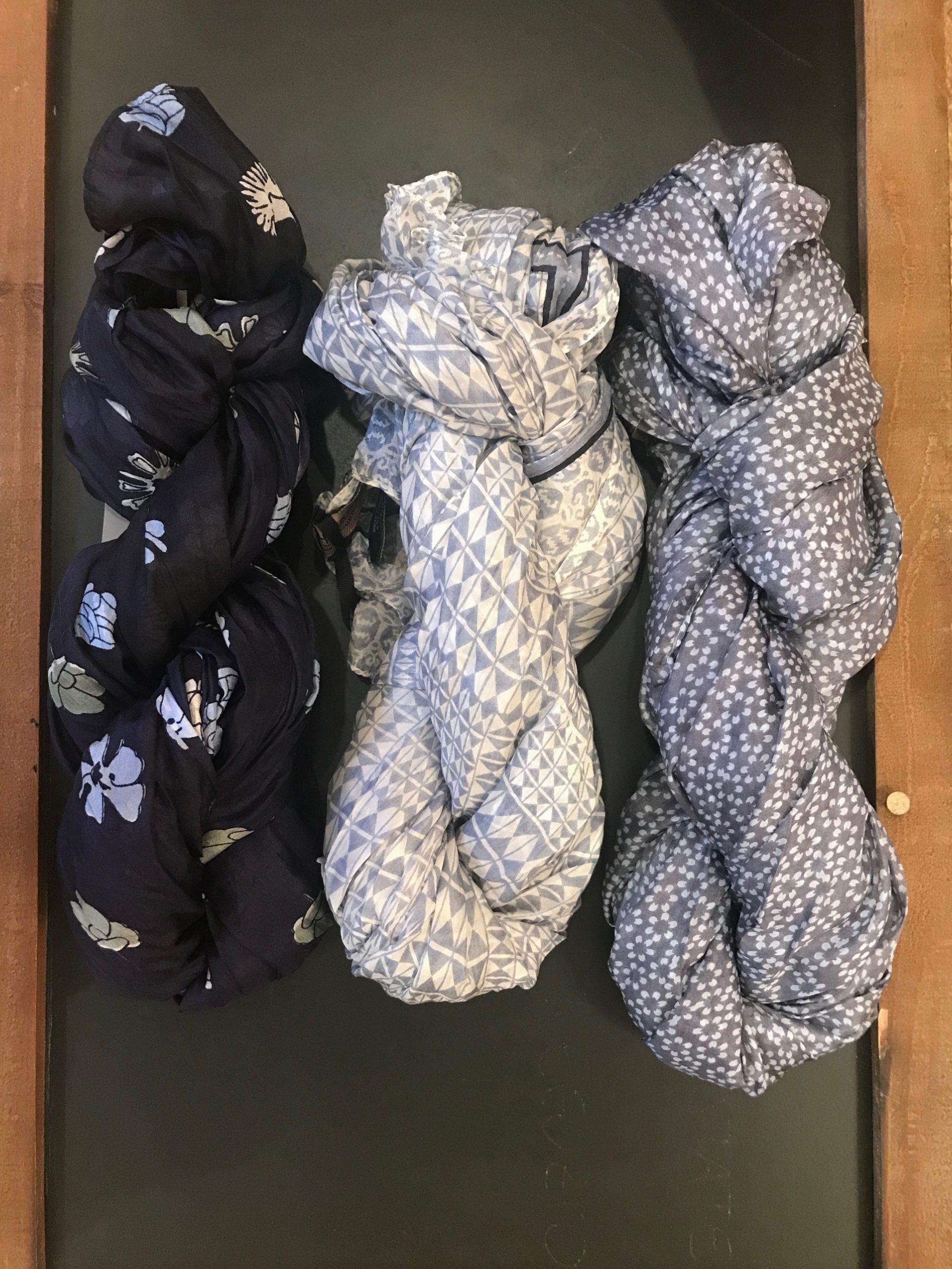 Sciarpe in seta e cotone
