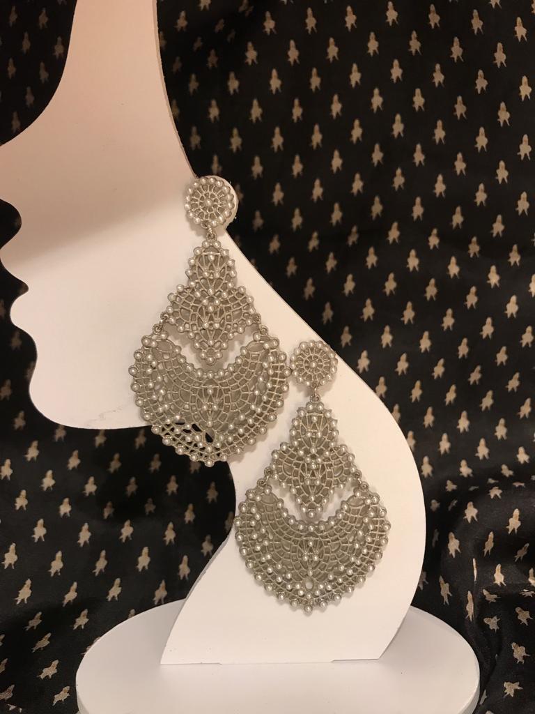 orecchini filigrana cristalli