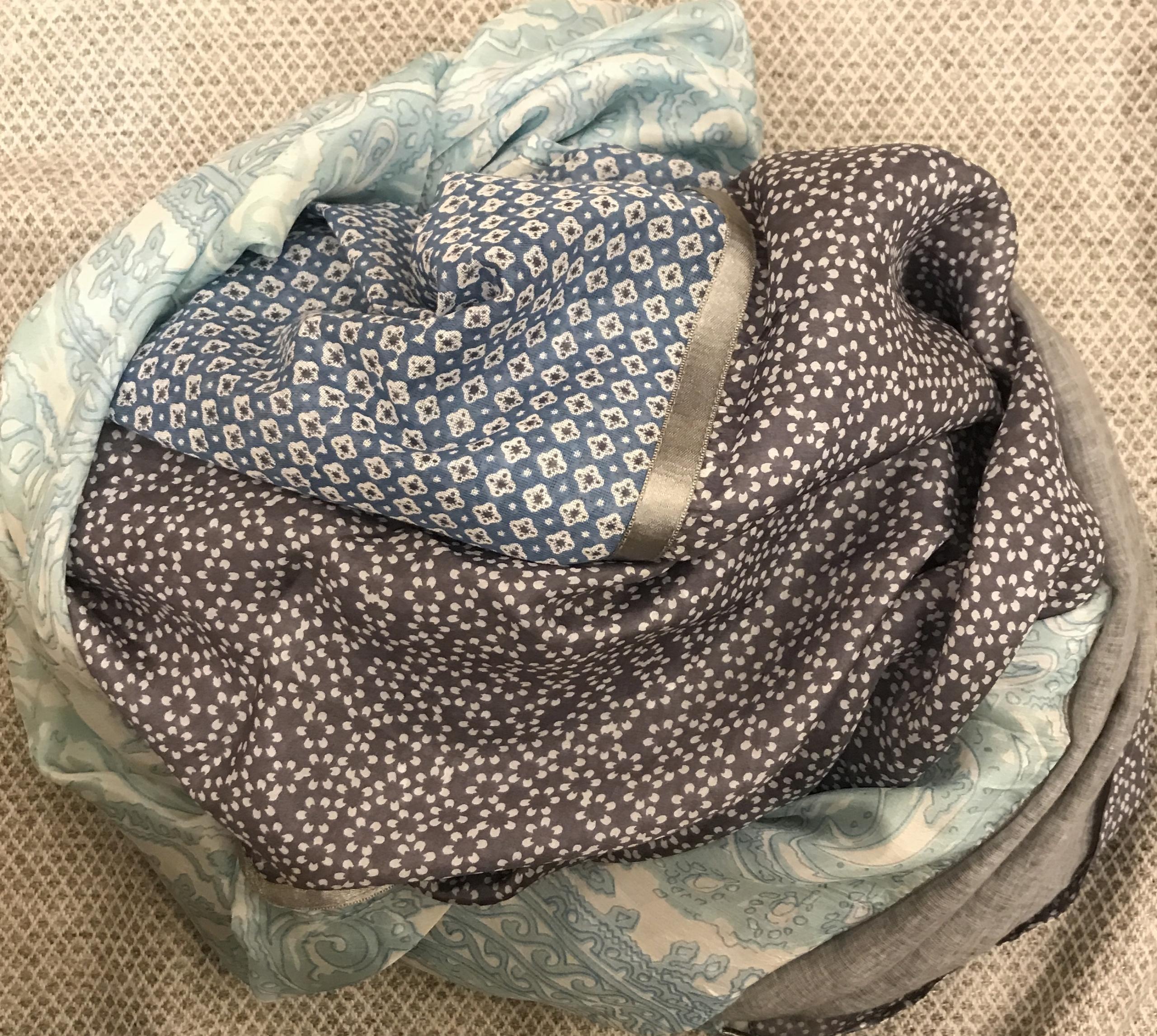 Sciarpa / stola in lino e seta